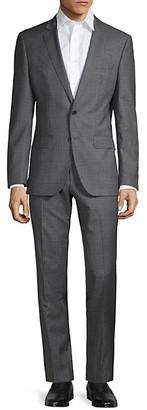 HUGO BOSS Slim-Fit Windowpane Check Virgin Wool Suit