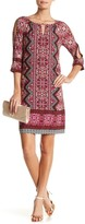 London Times T2850M Printed Scoop Jersey Dress