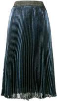 Christopher Kane pleated lamé midi skirt