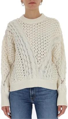 3.1 Phillip Lim Cable-Knit Crewneck Sweater