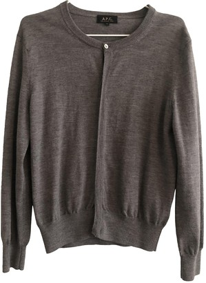 A.P.C. Grey Wool Knitwear
