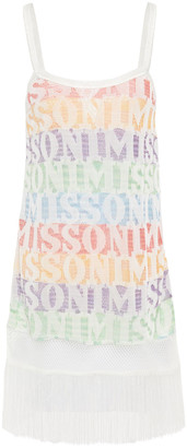 Missoni Mare Mare Fringed Jacquard-knit Mini Dress