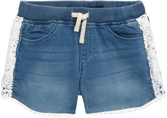 Joe's Jeans Crochet Trim Denim Shorts