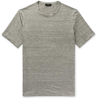 Theory Essential Melange Stretch-Linen T-Shirt