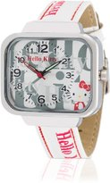 Hello Kitty Girl's Kami Watch with Multi-Colour Dial and Imitation Leather Strap HK1832-661