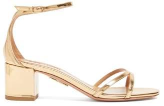 Aquazzura Purist Leather Sandals - Womens - Gold