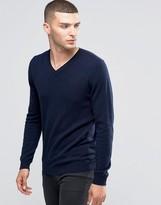 Sisley V-Neck Sweater in Cashmere Blend
