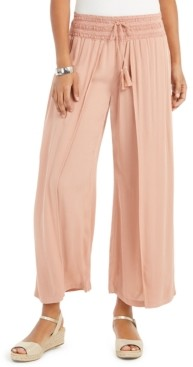 Style&Co. Style & Co Textured Tie-Waist Wide-Leg Pants, Created for Macy's