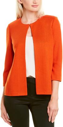 St. John Nouveau Knit Wool-Blend Cardigan