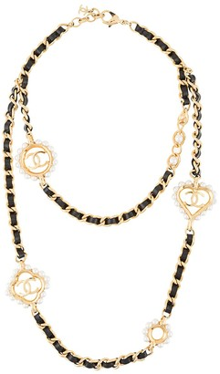 Chanel Pre Owned Faux-Pearl Medallions Necklace