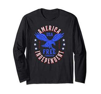 American Eagle USA July 4th Patriotic Long Sleeve T-Shirt