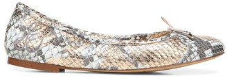Sam Edelman Felicia Snakeskin-Embossed Leather Ballet Flats