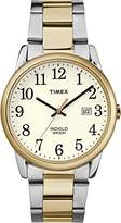 Timex Mens Easy Reader Two Tone Stainless Steel Bracelet Watch TW2R23500