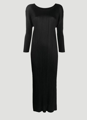 Pleats Please Issey Miyake Long Sleeve Pleated Dress