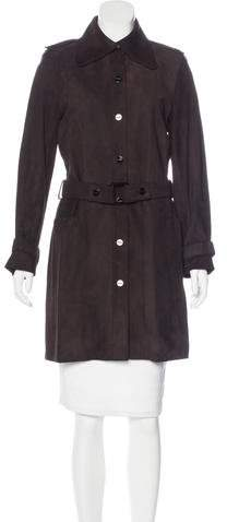 Givenchy Leather Knee-Length Coat