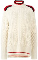 Isabel Marant turtleneck cable knit jumper - women - Polyester/Wool - 40