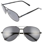 Ted Baker Men's 62Mm Polarized Aviator Sunglasses - Black