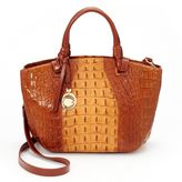 Leatherbay Umbria Crocodile Convertible Satchel