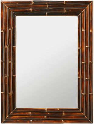 OKA Antiqued Bamboo Mirror - Dark Brown