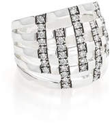 Ippolita 925 Glamazon Domed Diamond Stripe Ring, Size 7