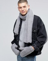 Adidas Originals Scarf And Glove Set In Grey Ay9042