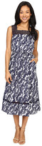 Christin Michaels Joni Lace Illusion Printed Dress