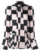 Salvatore Ferragamo checkboard panelled blouse - women - Silk - 38