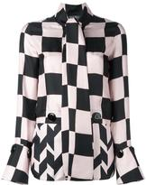 Salvatore Ferragamo checkboard panelled blouse