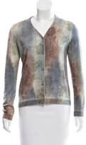 Piazza Sempione Tie-Dye Patterned Cashmere Cardigan