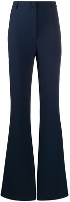 Hebe Studio High Waist Flared Leg Trousers