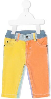 Stella Mccartney Kids Heart Patch Colour-Block Jeans