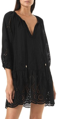 Melissa Odabash Ashley Lasercut Caftan Dress