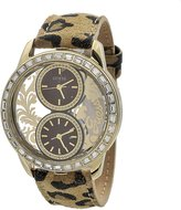 "GUESS GUESS? ""Women's W18544L2 Round Gold Toned Stainless Steel Case..."""