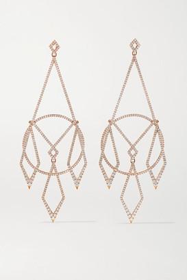 Diane Kordas 18-karat Rose Gold Diamond Earrings - one size