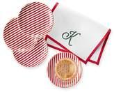 Ceramic Coaster, Set of 4, Red Preppy Plaid