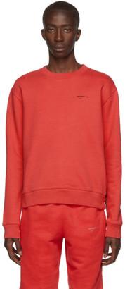 Off-White Red and Black Logo Slim Sweatshirt