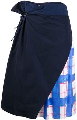 Mira Mikati layered drawstring skirt