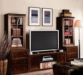 Pottery Barn Logan Media Suite with Drawers and Glass Towers