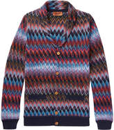 Missoni - Shawl-collar Cotton And Wool-blend Cardigan