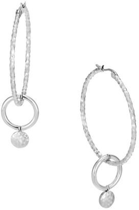 John Hardy Dot Sterling Silver Drop Hoop Earrings