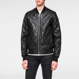 Paul Smith Men's Black Quilted Lamb Leather Bomber Jacket