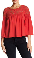 Plenty by Tracy Reese Lace Combo Blouse