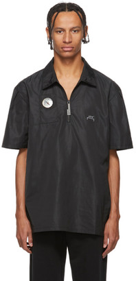 A-Cold-Wall* Black Side Snap Compass Polo