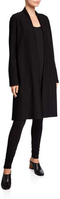 Eileen Fisher Petite Crepe Shawl Collar Long Jacket
