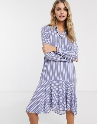 JDY Isabel 3/4 sleeve stripe shirt dress