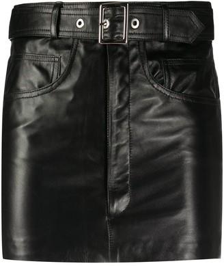 Manokhi Belted Mini Skirt