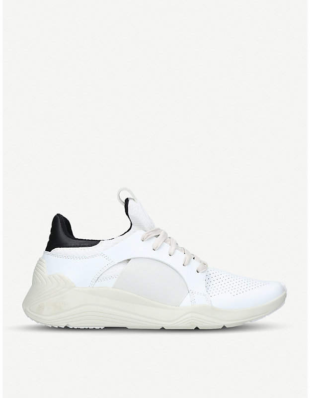 McQ Gishiki leather and neoprene low-top trainers