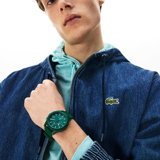 Lacoste Men's 12.12 Chronograph Watch with Green Silicone Strap