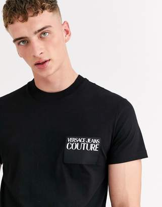 Versace t-shirt with chest logo in black