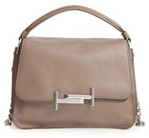 Tod's Small Double T Leather Messenger Bag - Brown